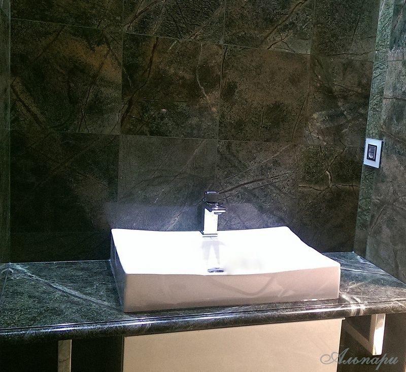 Столешницы для ванной из натурального камня