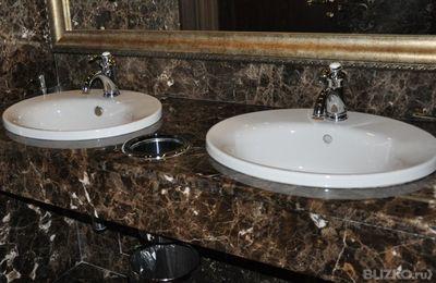 Гранитные столешницы для ванных комнат