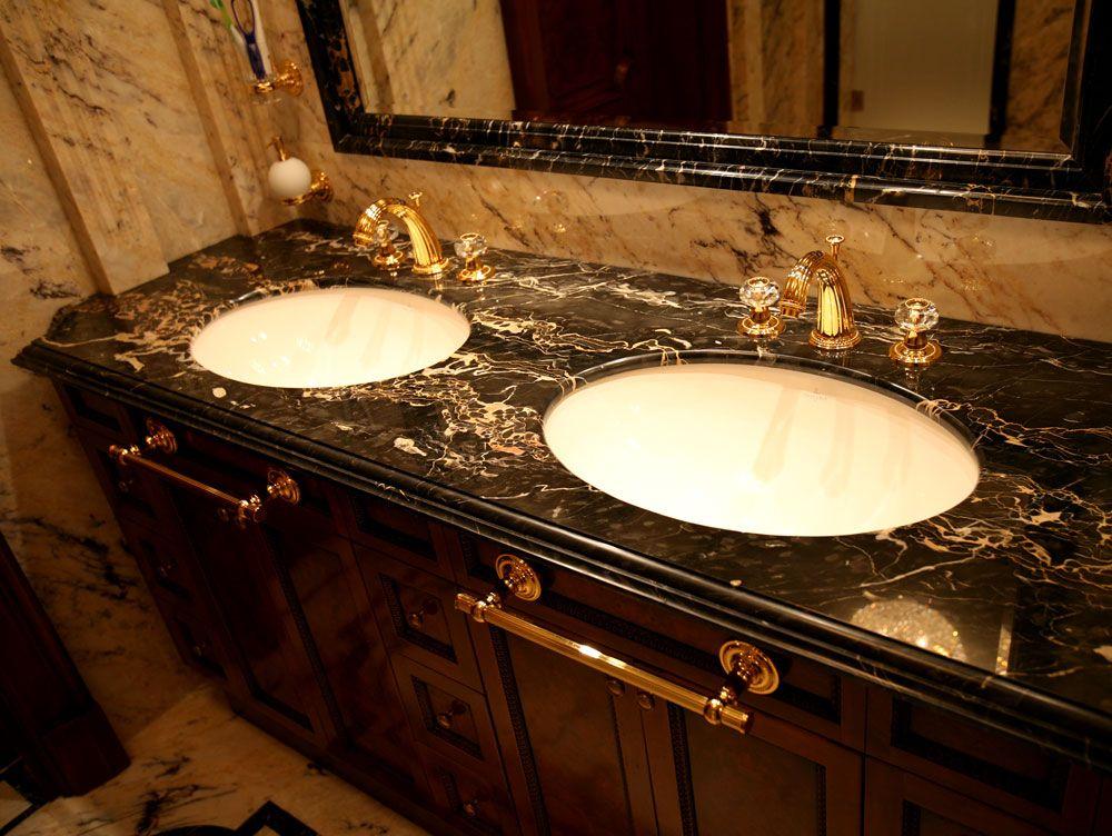 Мраморные столешницы для ванных комнат